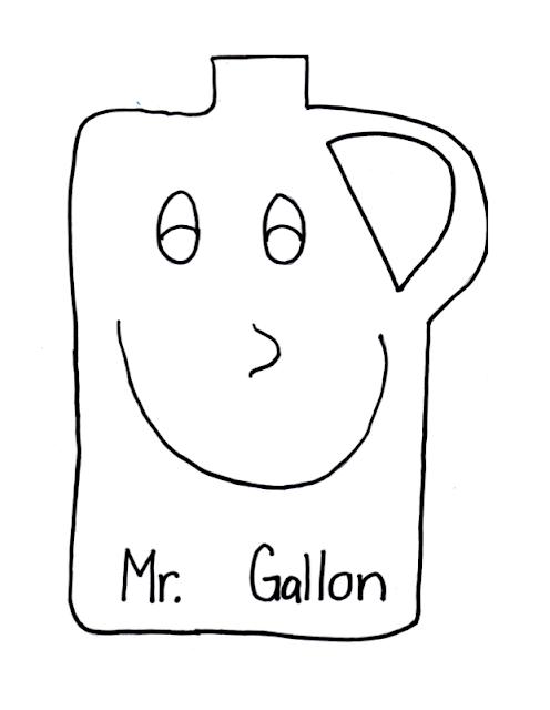 Gallon Man Printable Patterns - Patterns Kid