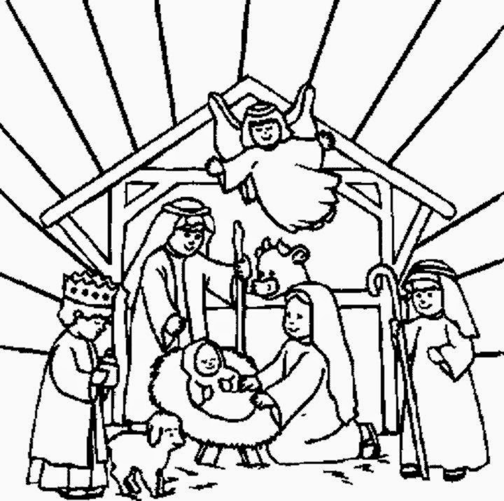 printable christmas nativity coloring pages - nativity coloring sheet free coloring sheet