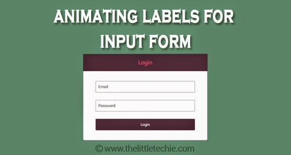 Animating labels for input form