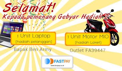 Pemenang Gebyar Fastpay 2