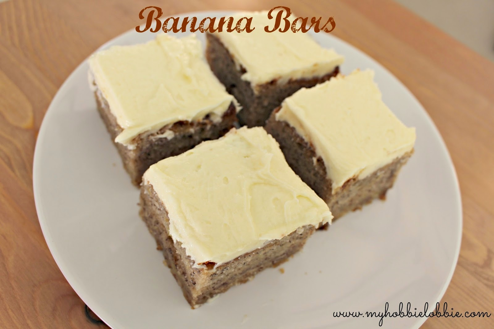 Featured Recipe: Banana Bars with Cream Cheese Frosting from My Hobbie Lobbie #SecretRecipeClub #banana #recipe