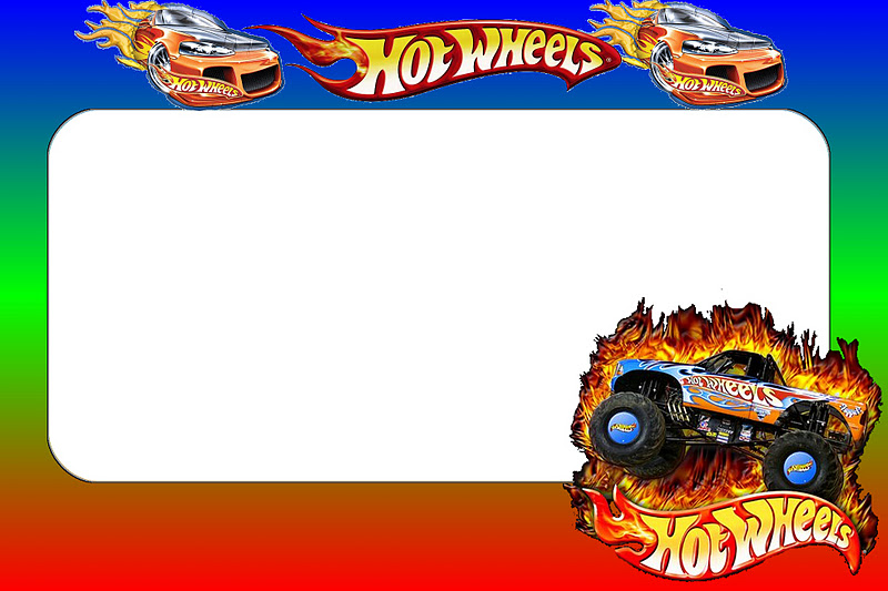 hot wheels party  free printable invitations