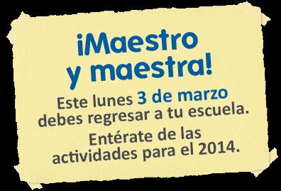 BUEN INICIO DEL AÑO ESCOLAR 2014