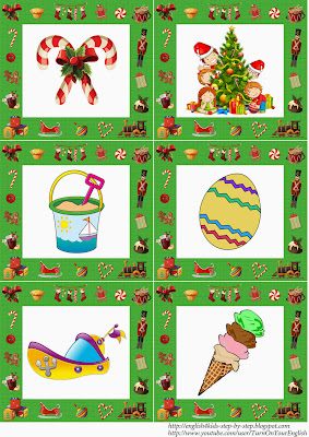 English preschool christmas flashcards