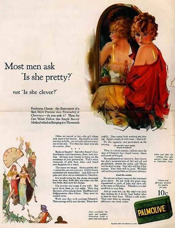 Propaganda Machista do Sabonete Palmolive nos anos 40