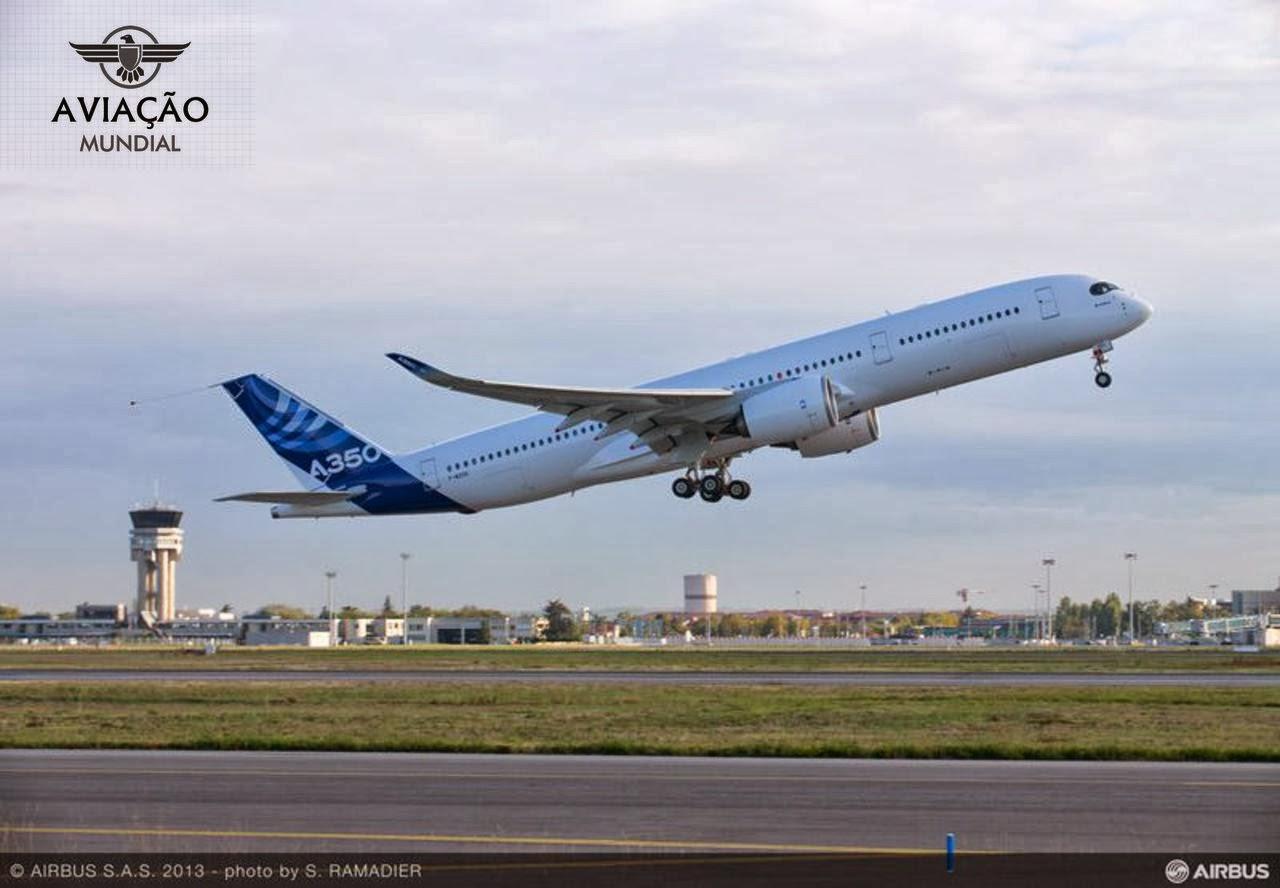 Airbus realiza voo com o segundo protótipo do jato A350 XWB