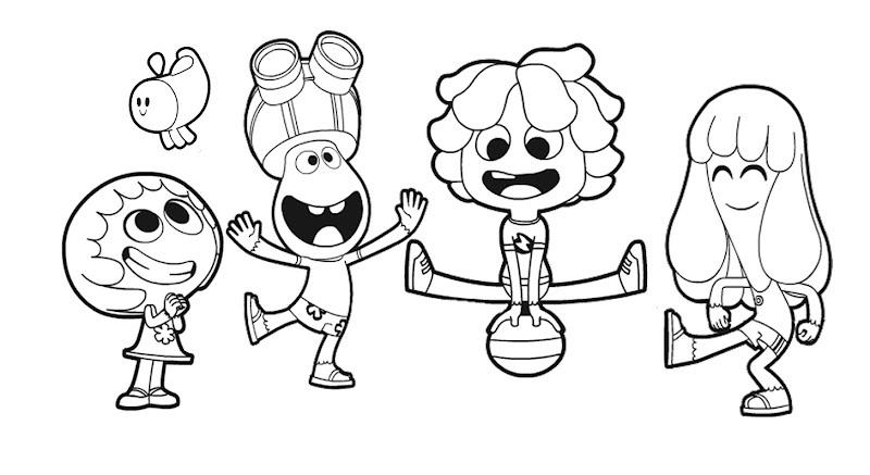 Dibujo de Personajes de Jely y Jam para Colorear ~ Colorea el dibujos