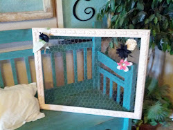 Pink chicken wire frame- Sold