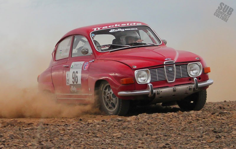 1969 SAAB rally car at 2014 Oregon Trail Rally