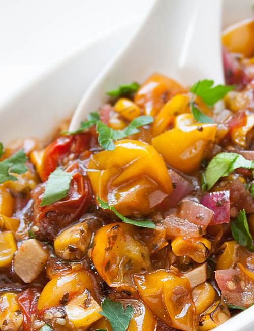 Karina's Easy Roasted Yellow Tomato Salsa Recipe #glutenfree