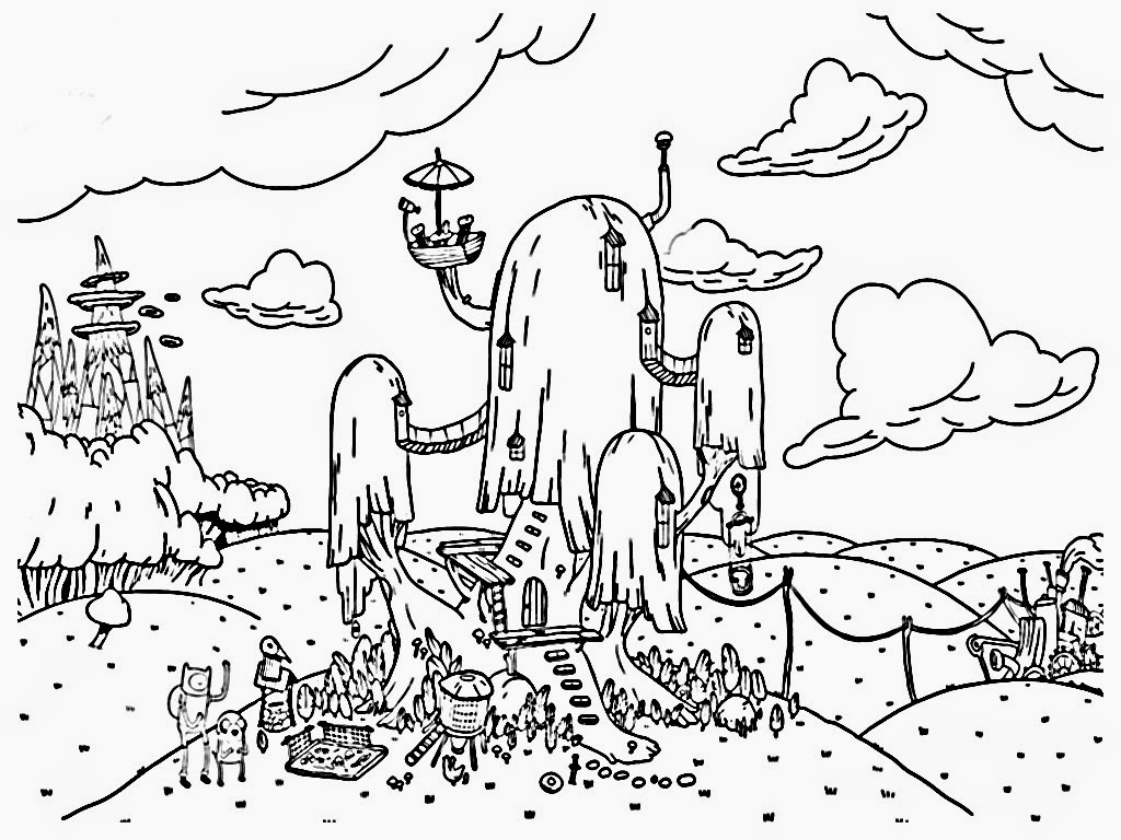 Adventure Time Ice King Coloring Pages