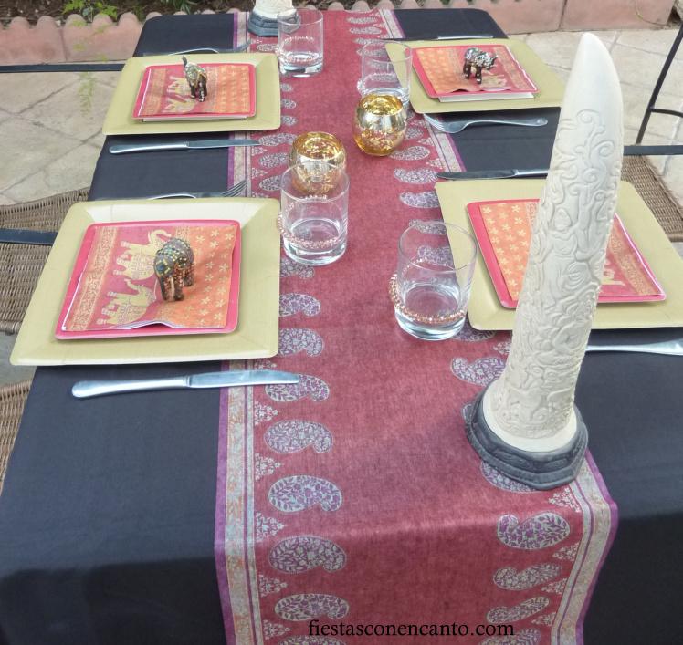 Fiestas con encanto decoraci n de mesa hind - Mesas japonesas ...