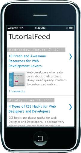 Mobile version of TutorialFeed