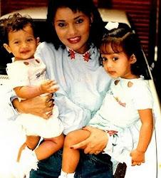 icha dengan 2 anak bella & kiki