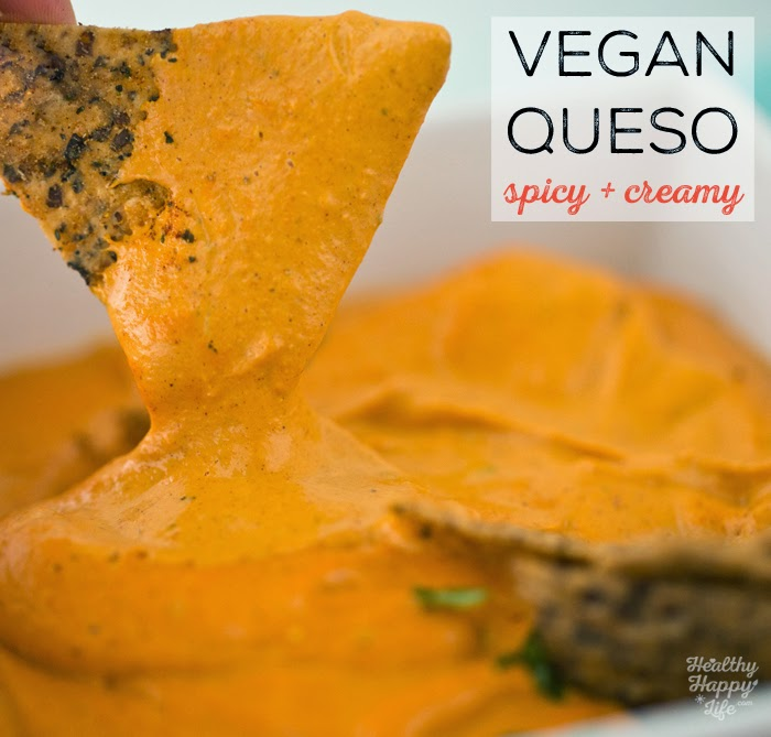 Easy Vegan Queso in Minutes! Warm, Spicy + Creamy Dip or Sauce.
