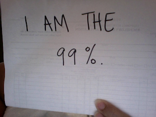 Solidarity with Occupy Wallstreet: I am the 99%