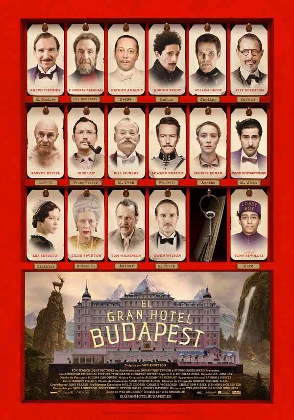 gran hotel budapest, wes anderson, el zorro con gafas
