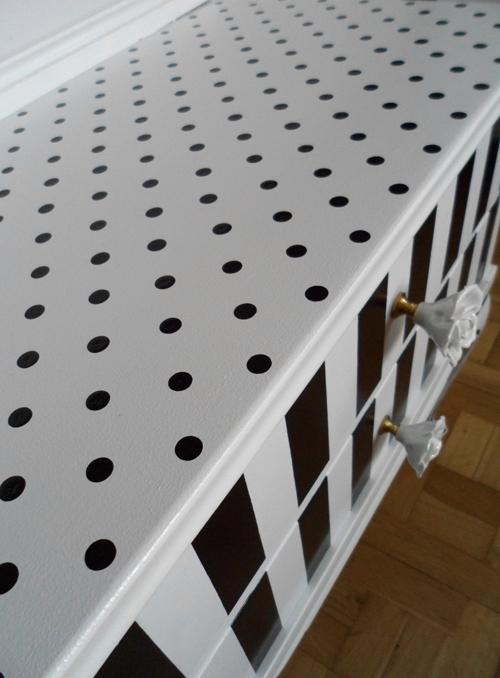 Lalole blog de lunares y rayas el antes y despues de una - Papel adhesivo muebles ...
