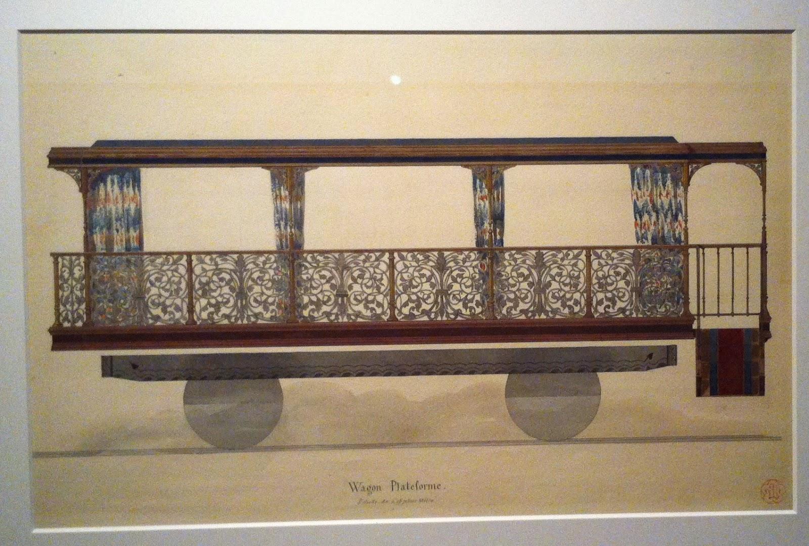 Viollet-le-Duc, wagon du train impérial, 1856