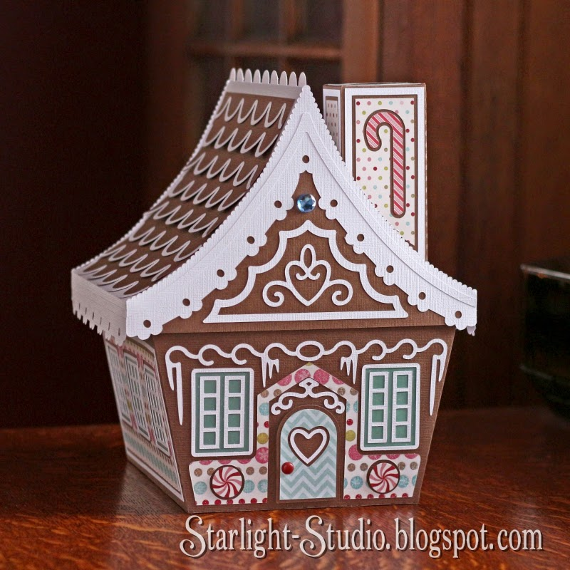 ... it to her, and I decided to make a big gingerbread house gift box