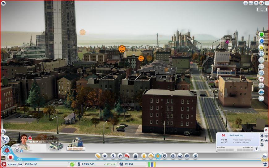 Вид на нефтяной город со стороны жилых кварталов