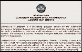 Download Panduan Beasiswa Darmasiswa Indonesian Scholarship Program