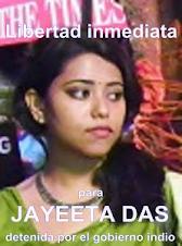 ¡Libertad inmediata para la camarada Jayeeta Das!