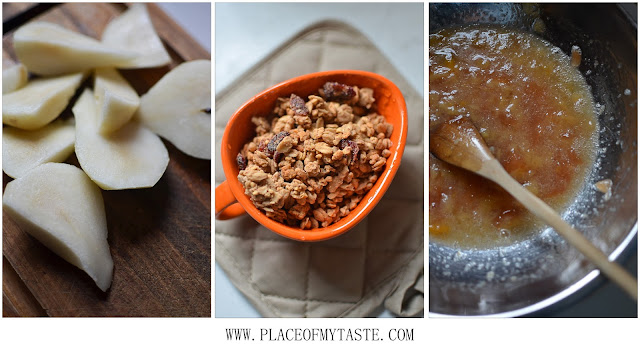 Pear and Granola Muffin ingredients