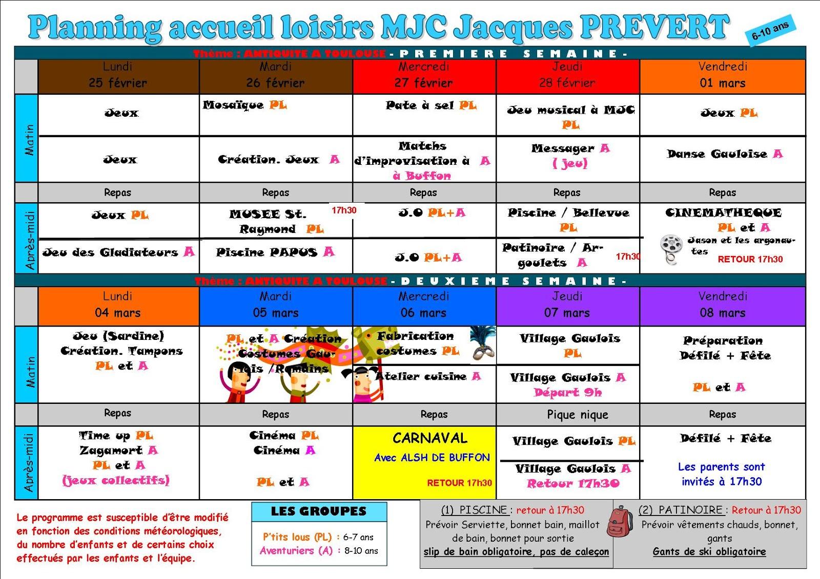 Activités Manuelles Centre De Loisirs 6 10 Ans programme des vacances alsh - 6 - 10 ans | accueil de loisirs m.j.c.