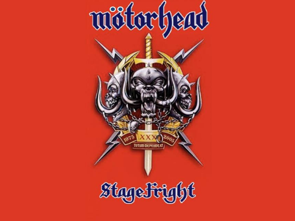Stage Fright DVD De Motörhead