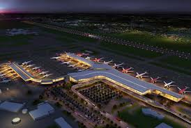 Vista aerea del Aeropuerto en Dorado Skyscrapper city