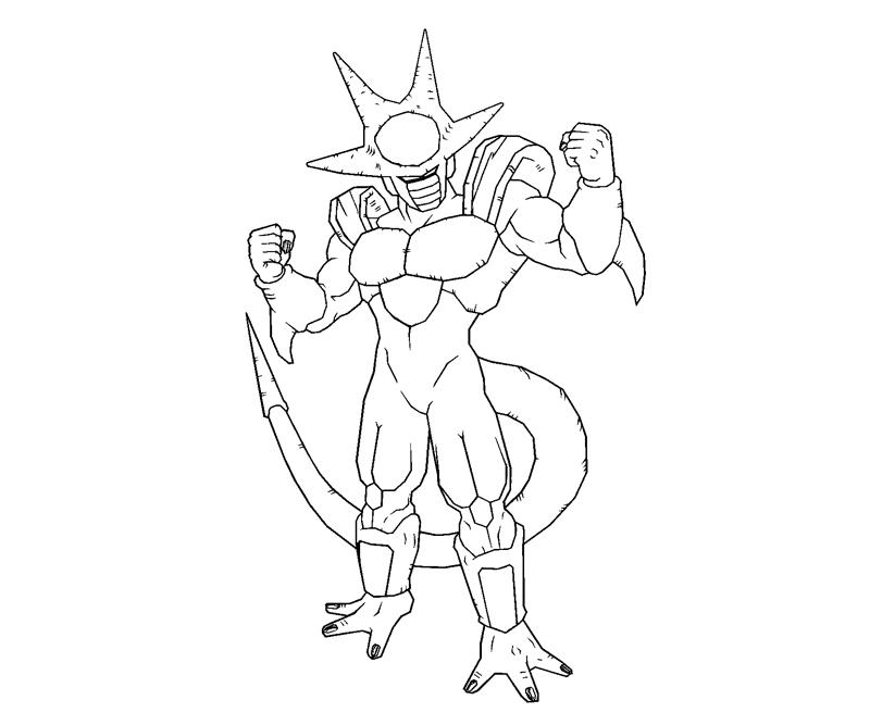 dbz coloring pages frieza - photo#31