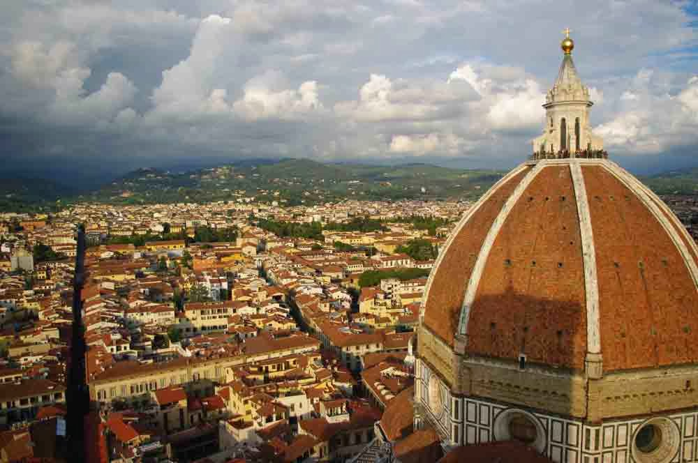 The Duomo in Firenze, Italy as seen from the Campanile.