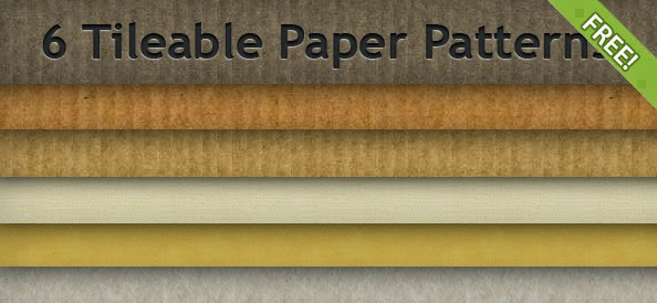 6 Free Tileable Paper Patterns