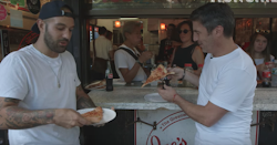 How to EAT a NEW YORK SLICE  ... NY PIZZA