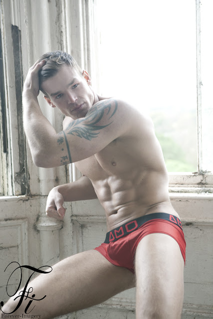 Myles Leask photographed by Forever Imagery in AMU underwear