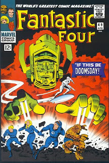 Review Fantastic Four #49 Jack Kirby Galactus Silver Surfer Mr. Fantastic Invisible Girl Human Torch Thing Marvel Cover comic book issue