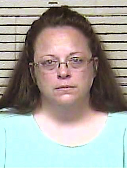 Kim Davis Files charm when choose Holds Her in Contempt of Court for Refusing to Issue twosome Licenses