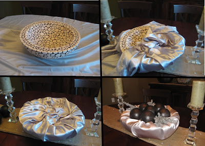 Covering Bowl with Fabric for Christmas Decor