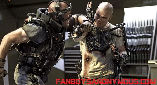 Scenes of bloody violence and dismemberment in Elysium
