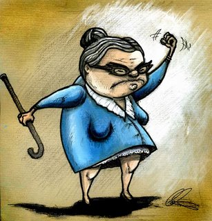 angry   old women
