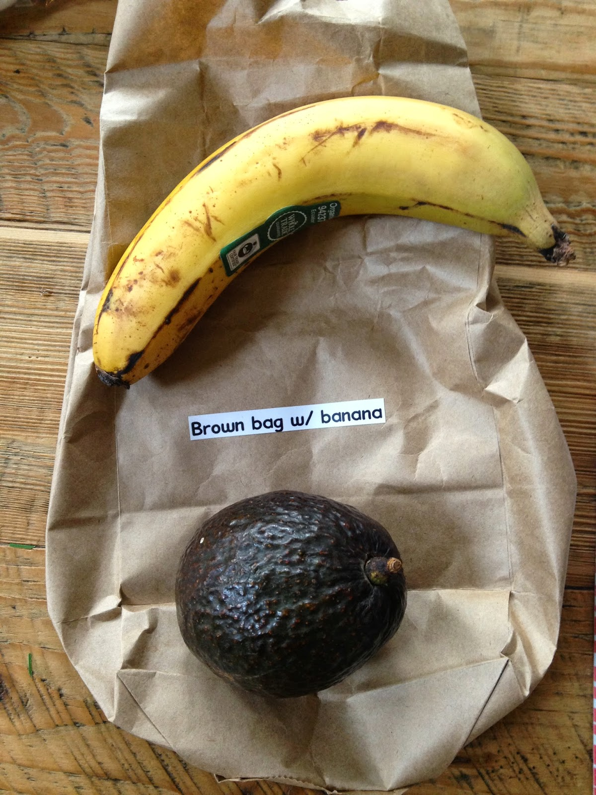 ripening avocados - stick them in a brown bag with a banana