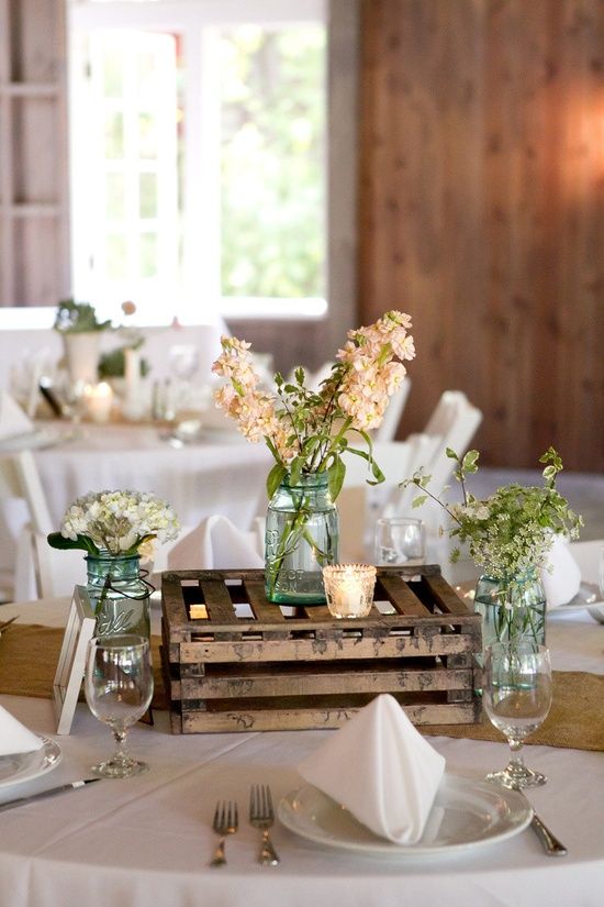 Las cajas de madera son la nueva sensaci n para bodas - Cajas de decoracion ...