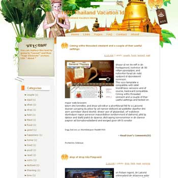 1001 Thailand Vacation Ideas Blogger Template. free download template blogspot