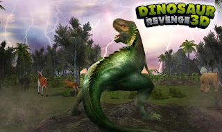 Screenshots of the Dinosaur revenge 3D for Android tablet, phone.
