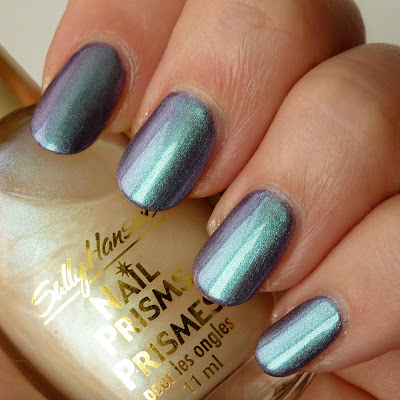 Sally Hansen Nail Prisms - White Turquoise Polish Swatch