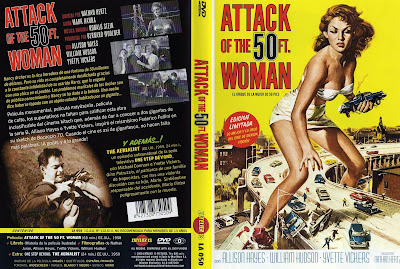 El Ataque de la Mujer de 50 Pies [1958] Caratula | Attack of the 50 Ft. Woman (AKA Attack of the 50 Foot Woman)