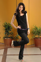 Vedika in Beautiful Black Trousers and Tank Top