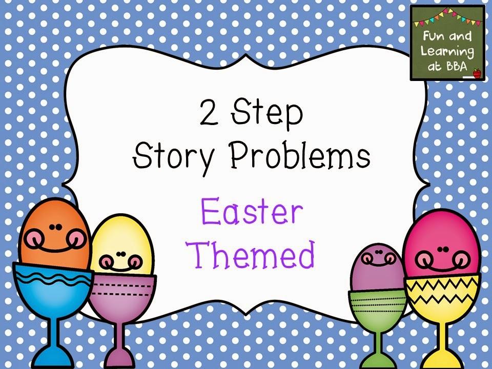 Easter story problem task cards