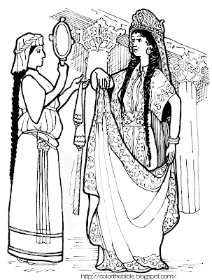 Queen Esther Coloring Page
